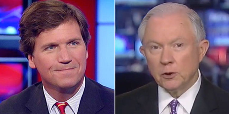 """Fox's Tucker Carlson Tells Trump to Lay Off Sessions: """"He's One of Your Few Friends"""""""