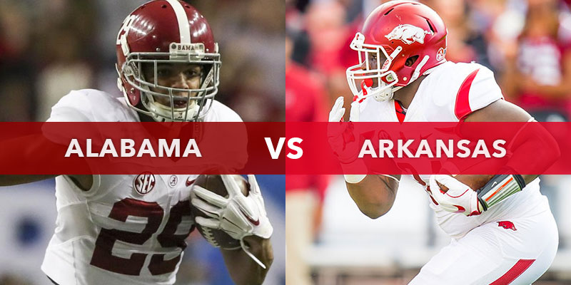 Arkansas vs. Alabama 2017 odds: Crimson Tide huge betting favorites against Razorbacks