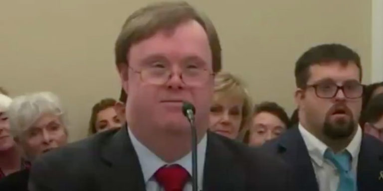 Down Syndrome Man Offers Moving Testimony for the Sanctity of Life
