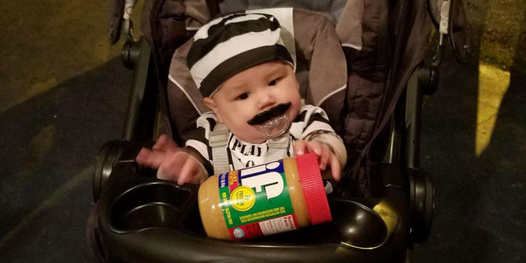 Alabama Baby Steals the Show with Costume Spoofing July's Peanut Butter Jail-Break