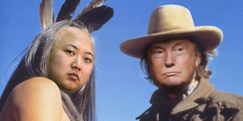 Image result for photo of trump and kim as josey wales and ten bears