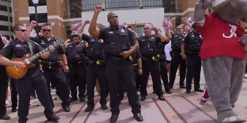 Watch University Of Alabama Police Department Completes Lip Sync