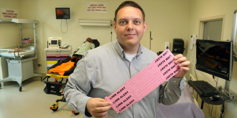 Nursing instructor's wristband research recognized