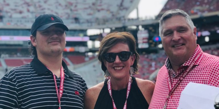 A former Bama football star and his Auburn wife: How love won out