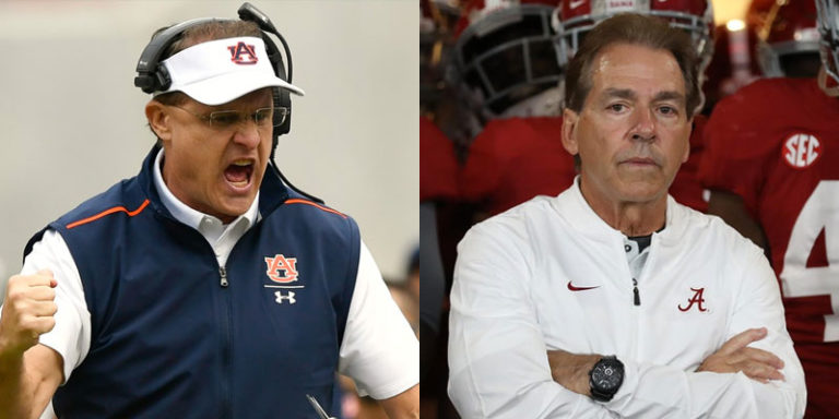 Nick Saban and Gus Malzahn: What a difference a week makes