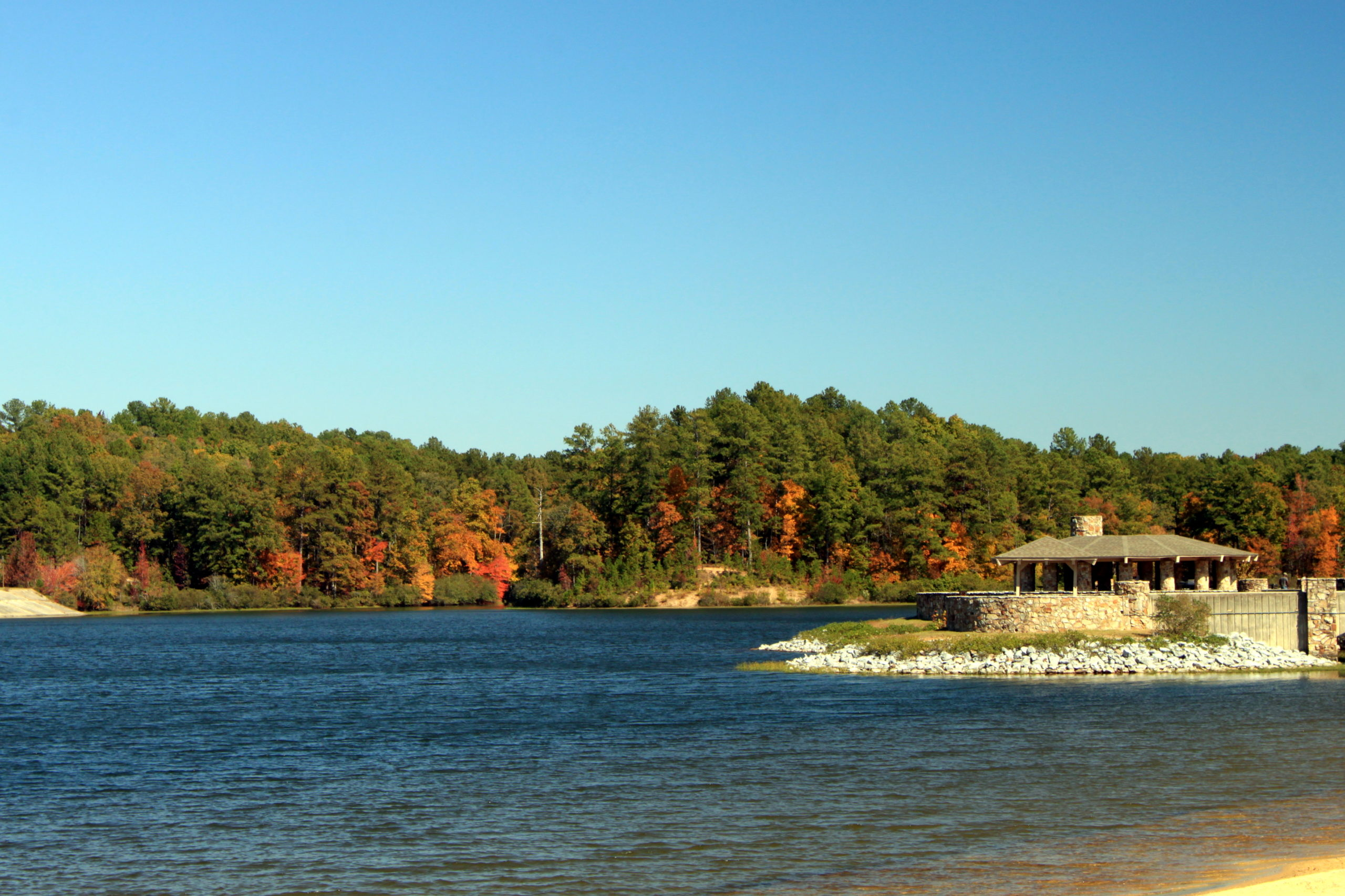 lake with fall leaves