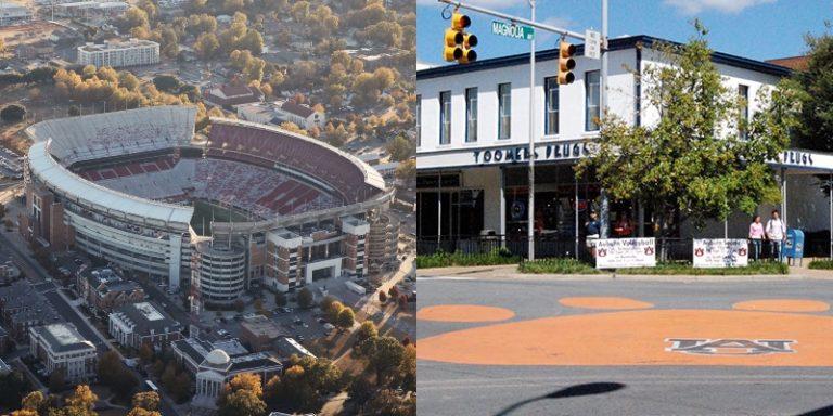 'Rivals' Tuscaloosa and Auburn are shaping Alabama's future