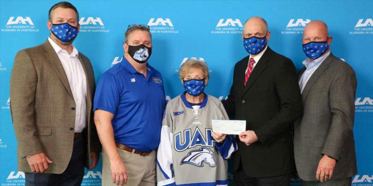UAH hockey program receives $10K gift from former Huntsville Mayor Loretta Spencer