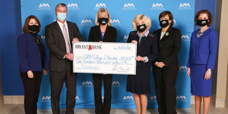 UAH College of Nursing receives $100K gift from Bryant Bank