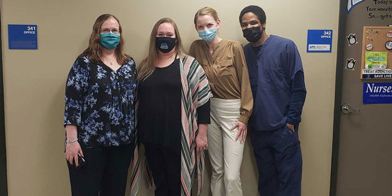 UAH Nursing faculty take student groups to administer COVID-19 vaccines