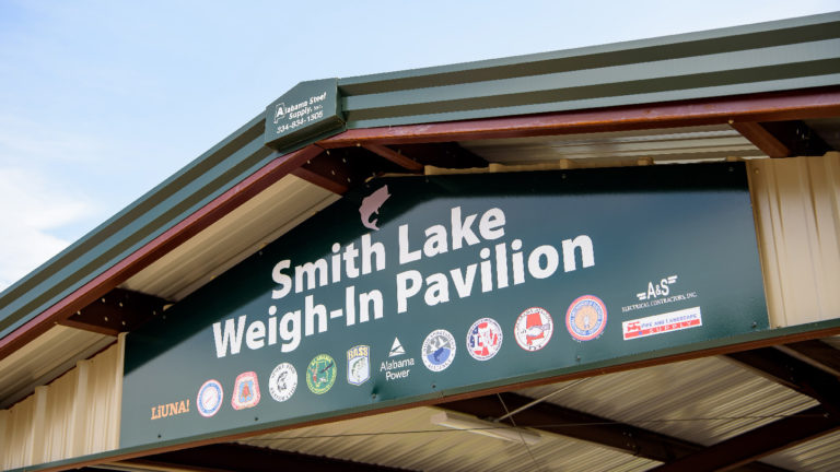 Anglers are hooked on Smith Lake's new weigh-in pavilion
