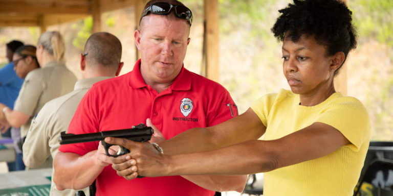 WFF Law Enforcement Section teaches Ladies Who Hike firearms basics