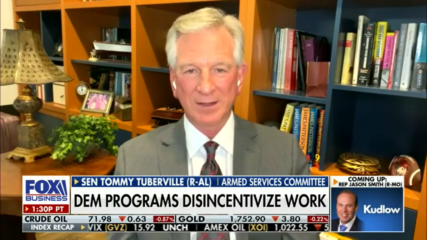 Tuberville sounds off on Democrats' proposed $3.5 trillion spending plan - 'They are absolutely going to put us under' - Yellowhammer News